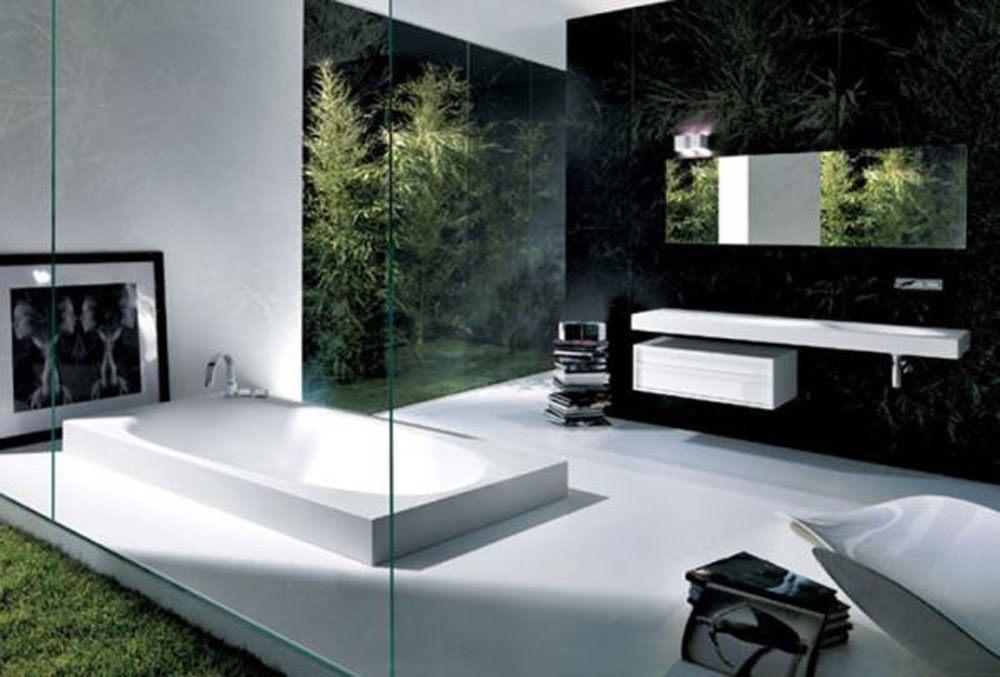 Casa de banho minimalista com banheira fotos e imagens for Decoracion de casas minimalistas fotos