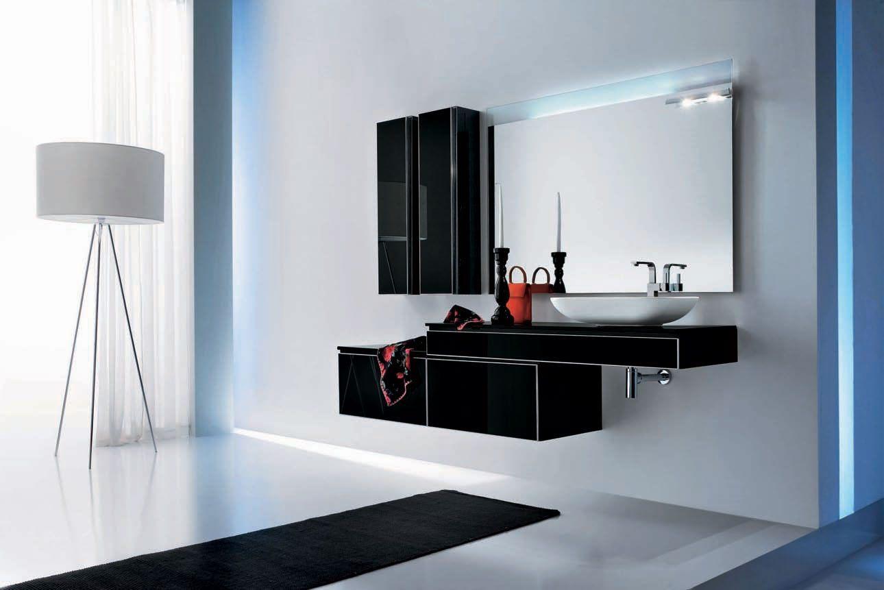 Casa de banho moderna a preto e branco fotos e imagens for Design semplice casa del fienile