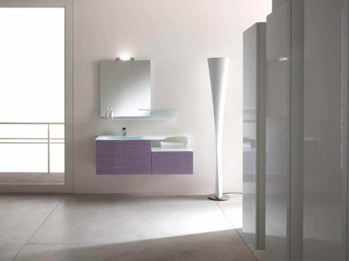 Casas de banho minimalistas brancas fotos e imagens for Mueble bano minimalista