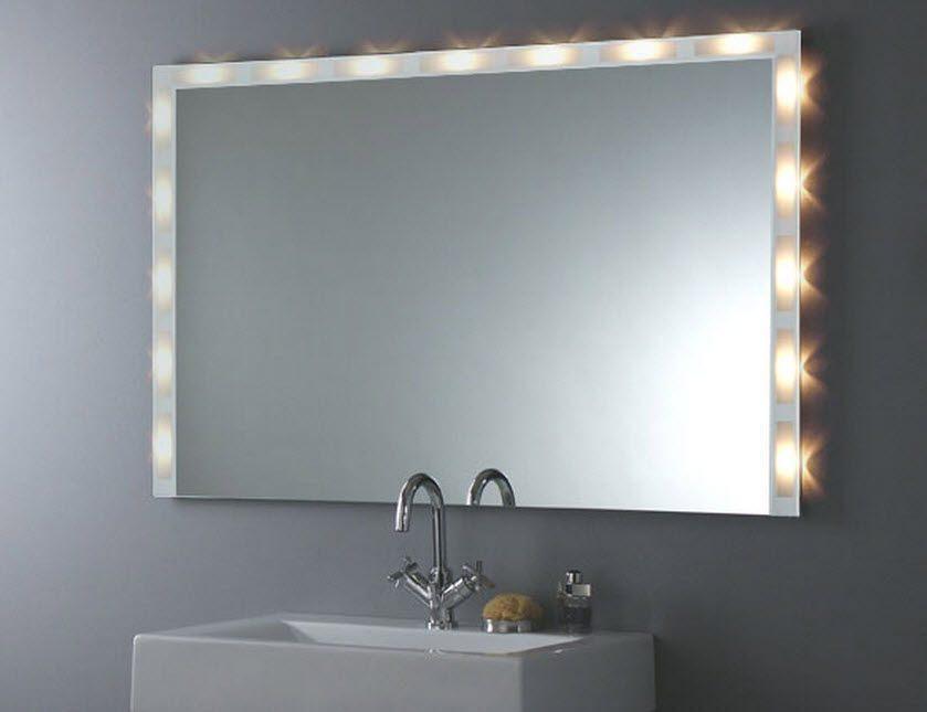 Espelho de casa de banho com luzes fotos e imagens - Luces espejo bano ...